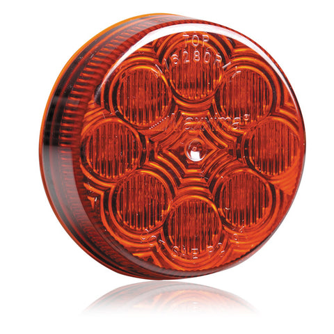 "Maxxima red 2.5"" round 8 diode LED marker light"