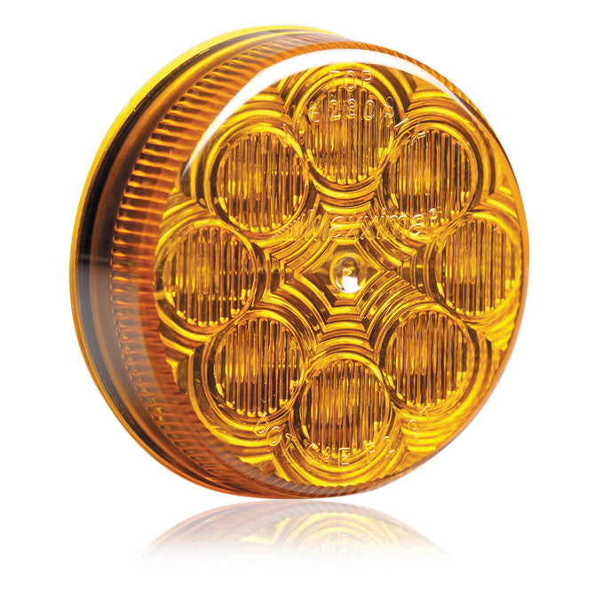 "Maxxima amber 2.5"" round 8 diode LED marker light"