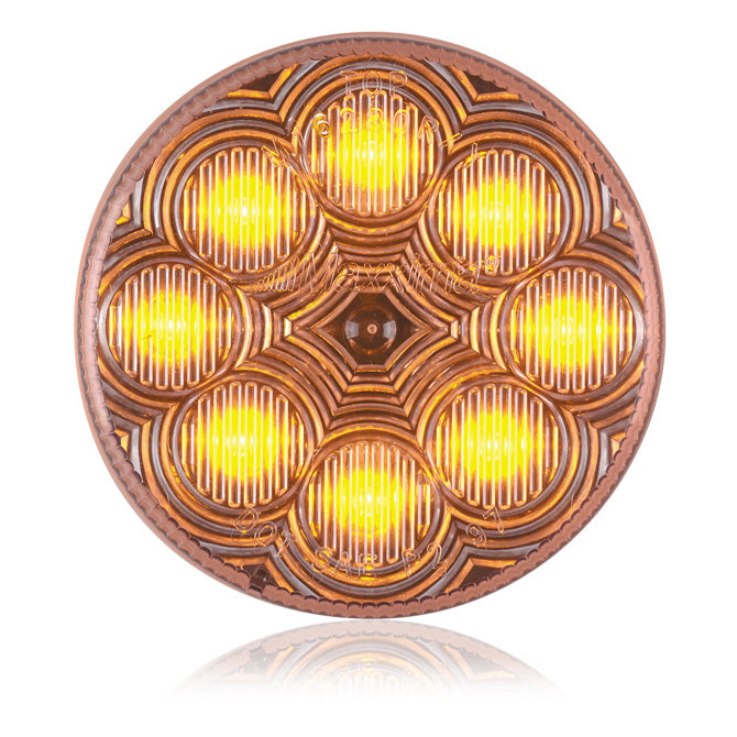 "Maxxima amber 2.5"" round 8 diode LED marker light - CLEAR lens"