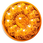 "American Superlite amber 4"" round LED turn signal light"
