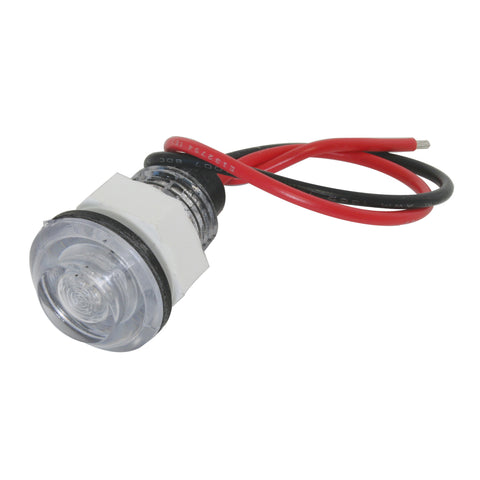 Single diode LED interior compartment light with threaded back - Amber