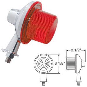 "Red 13 diode LED tanker honda marker light with 2-1/8"" long arm"
