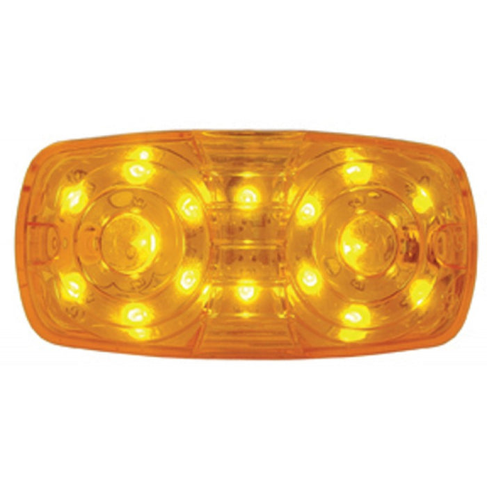 Amber tiger eye/double bubble 16 LED marker light