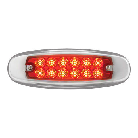 Spyder Red Peterbilt-style 12 diode LED ultra-thin marker light