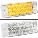 "Amber 2"" x 6"" rectangular 20 diode LED marker light - CLEAR lens"