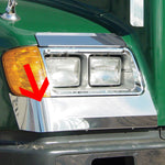 Freightliner FLD 112/120 stainless steel front fender guard, wrap around style - PAIR