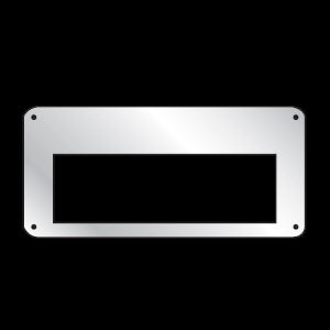 Freightliner FLD stainless steel CB radio cover plate for Cobra 29
