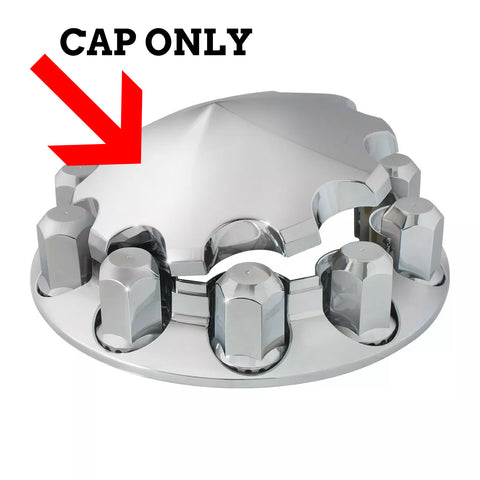 "Chrome plastic pointed replacement center cap for ""Premier"" axle covers only"