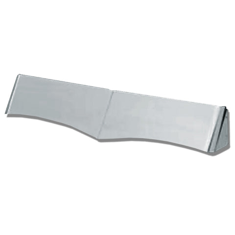 """Wicked"" stainless steel rear sleeper window visor"