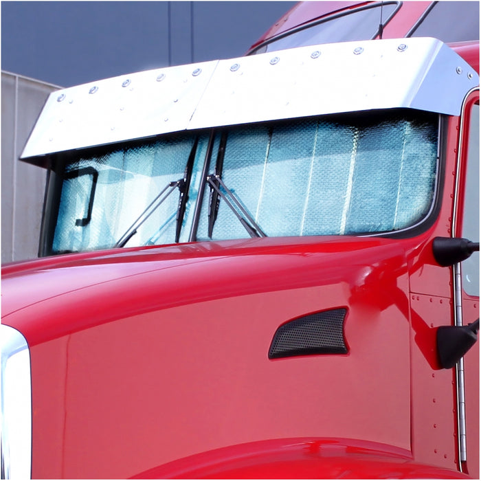 Kenworth T660 reflective cooling window shade