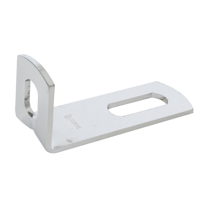 "Stainless steel ""L"" pedestal light mounting bracket"
