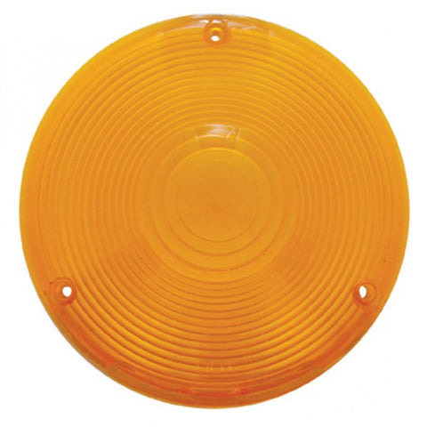 Plastic 3 screw lens for rear sleeper utility lights - Amber
