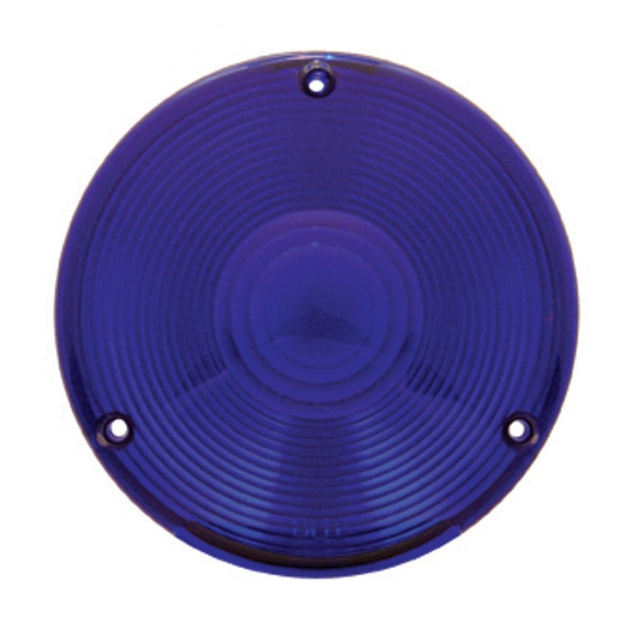 Plastic 3 screw lens for rear sleeper utility lights - Blue