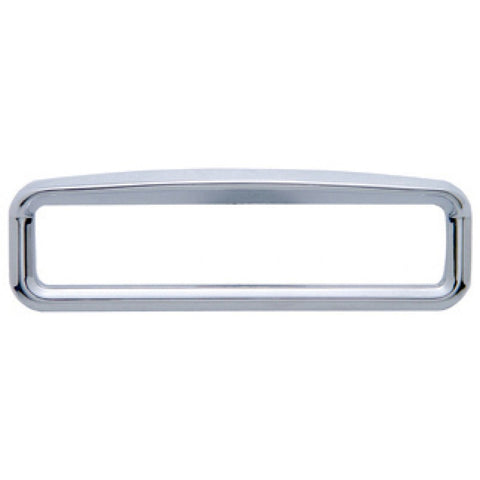 Kenworth chrome plastic glove box emblem surround w/visor
