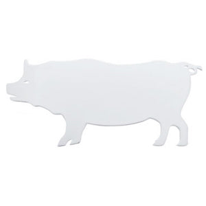 "Chrome pig cutout w/welded mounting studs - 6"" x 13"" - Faces LEFT"