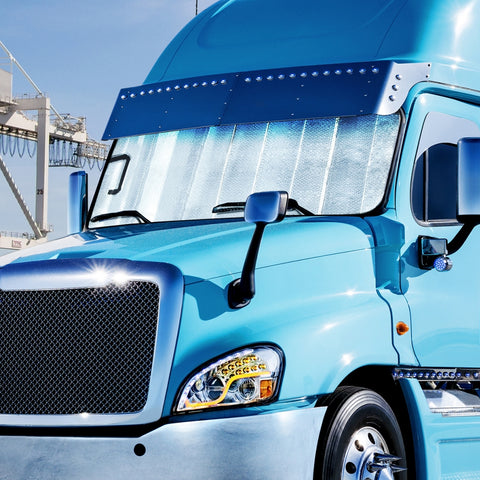 Freightliner Cascadia reflective cooling window shade