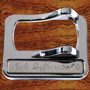 "Rockwood Peterbilt 2001+ chrome plastic switch guard - ""Axle Differential"""