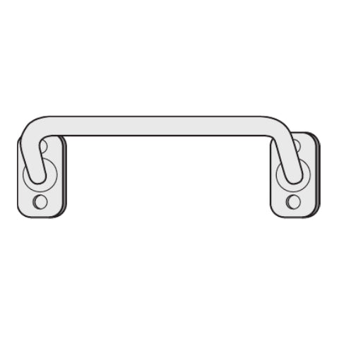 "36"" stainless steel cab mount grab handle"