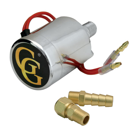Chrome electric solenoid valve for train horns