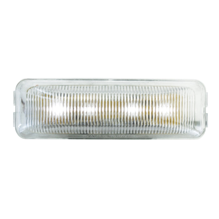 "White 1"" x 4"" rectangular 4 diode LED utility light"