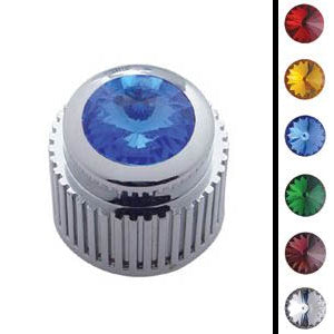 Chrome plastic small control knob with jewel