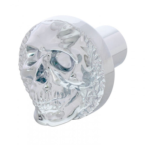 Skull chrome aluminum thread-on style air brake knob