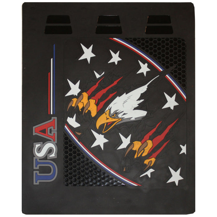 "USA Flying Eagle 24"" x 30"" colored rubber mudflap - PAIR"