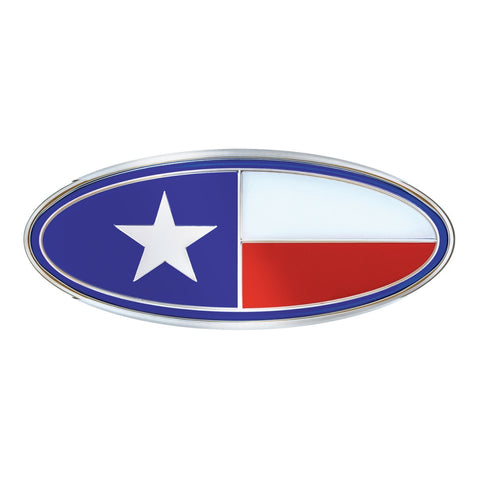 Texas flag replacement Peterbilt-style emblem w/mounting studs - SINGLE