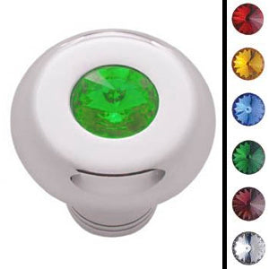 Deluxe small chrome dash knob w/jewel - SINGLE