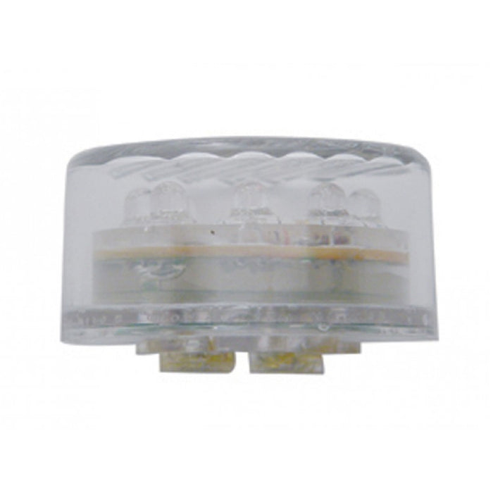 "Amber 2"" round 9 diode LED marker/clearance light - CLEAR lens"