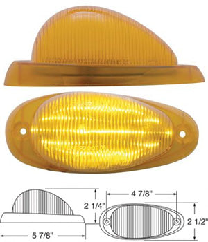 Amber 15 diode LED Freightliner turn signal light