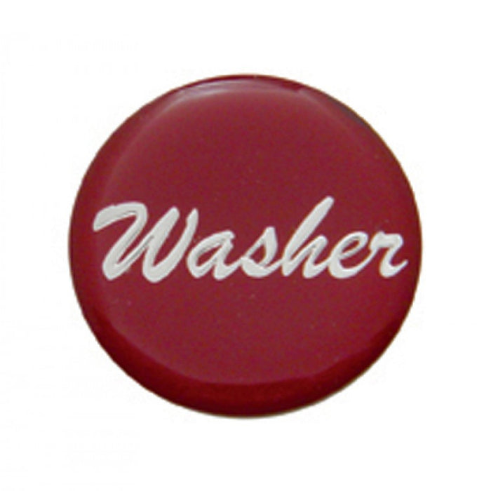 """Washer"" glossy sticker for small chrome dash knobs"