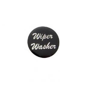 """Wiper/Washer"" glossy sticker for small chrome dash knobs"