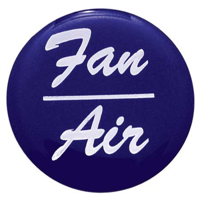 """Fan/Air"" glossy sticker for small chrome dash knobs"