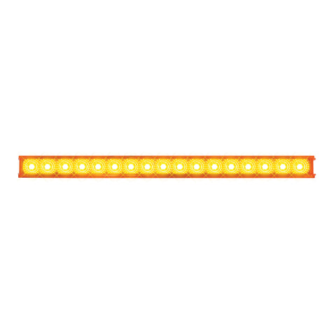 "Spyder 20"" Amber 17 diode LED turn signal light bar"