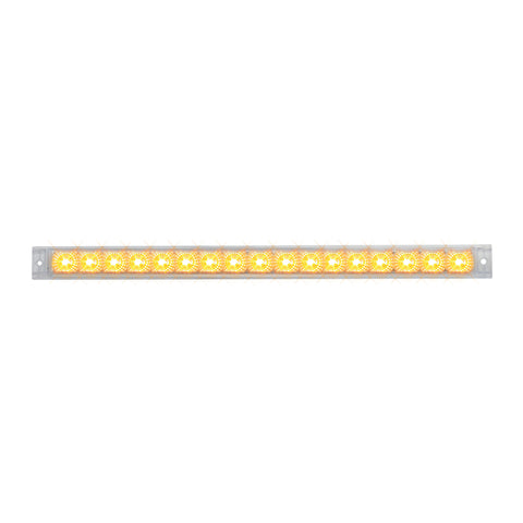 "Spyder 20"" Amber 17 diode LED turn signal light bar - CLEAR lens"