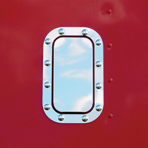 Freightliner Classic/FLD stainless steel sleeper vent cover w/sides and trim ring