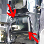 Freightliner Classic/FLD stainless steel passenger's side kick panel