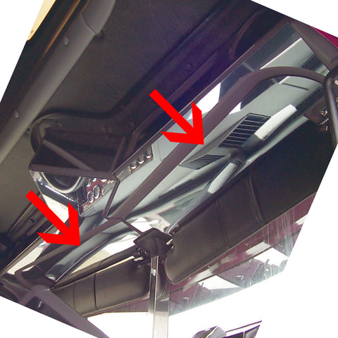 Freightliner Classic/FLD stainless steel headliner above visor trims