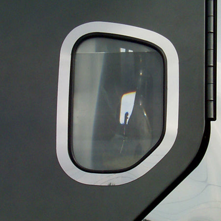 Freightliner Century/Columbia stainless steel exterior door view window trim