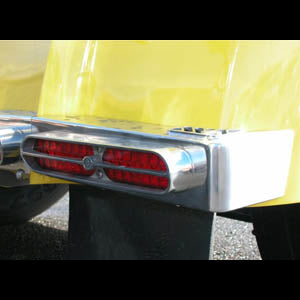 Double JJ Kenworth W900 cast aluminum rear step light bars - PAIR