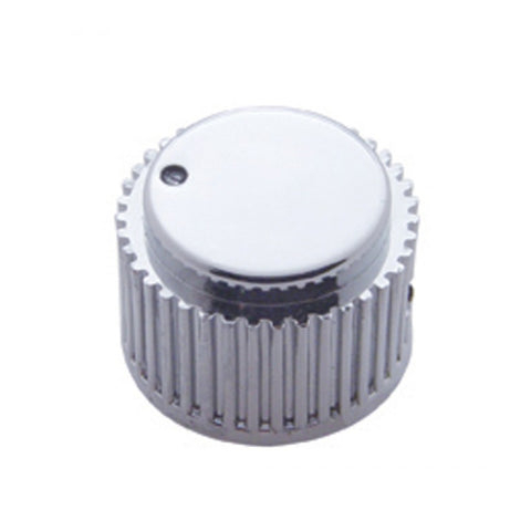 Chrome plastic small dash control knob