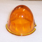 Amber original-style glass lens for torpedo cab light