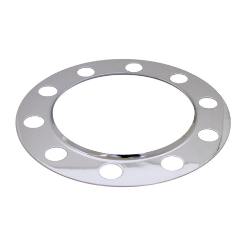 Chrome steel beauty ring for 10-hole unimount hubs