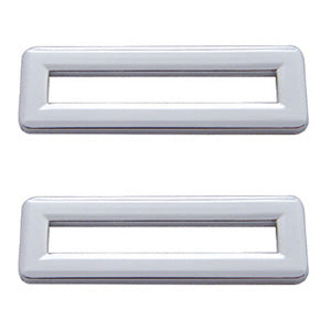 Freightliner Classic/FLD chrome plastic switch label cover without visor - 5/PACK