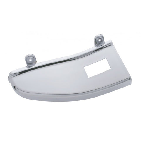 Freightliner Century/Columbia chrome plastic door panel trim w/1 switch hole - passenger's side