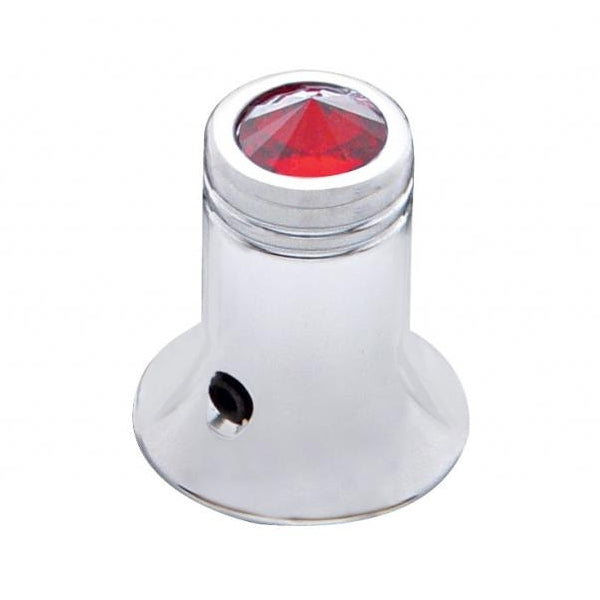 Chrome CB radio channel selector knob w/jewel