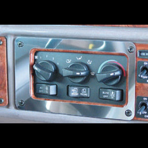 Peterbilt 2001-2005 stainless steel air conditioner/heater control panel surround