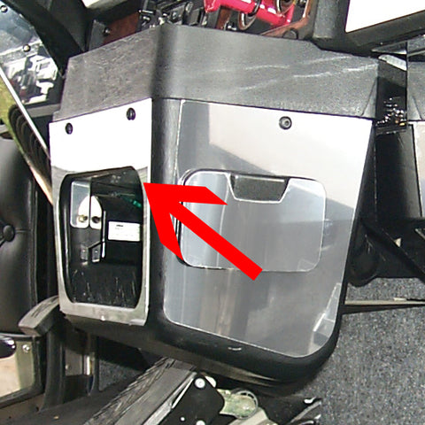 Kenworth -2001 stainless steel cubby hole trim