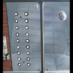 Peterbilt 359 stainless steel circuit breaker area trim